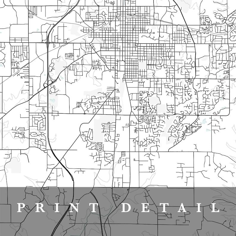 Gift Map Bloomington Bloomington Print Home Town Map Indiana City Map Map Poster Bloomington Map Minimalist Map Art