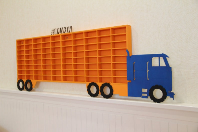 Hot wheels jongens hout truck display case toy matchbox opslag etsy