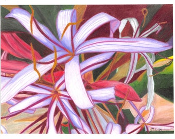 Tropical Flowers (Print)