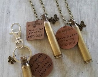 Keepsake keychain...you send me your keepsake that reminds you of your lost one and I'll incorporate it into a cherish able keychain!