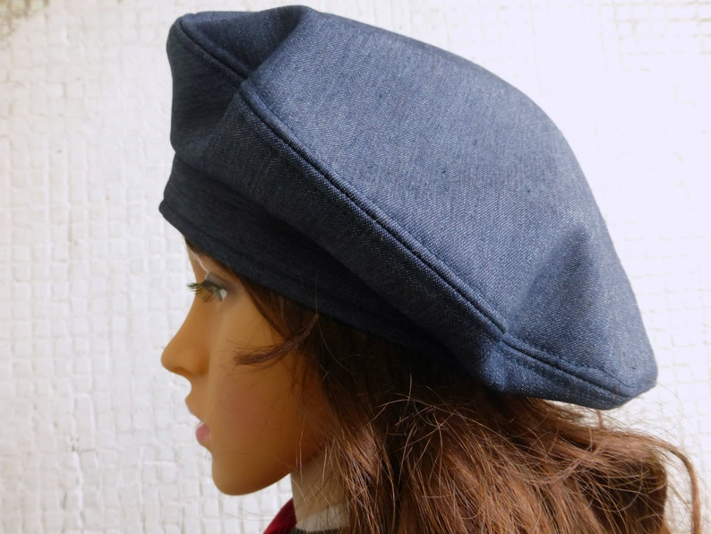 70a7dcf6e4b Winter Beret Hat Women Denim Beret Hat Women Winter Hat Women