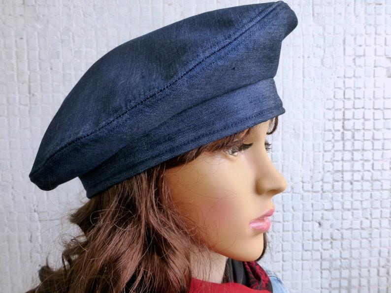 ecc8f43d Winter Beret Hat Women Denim Beret Hat Women Winter Hat Women | Etsy