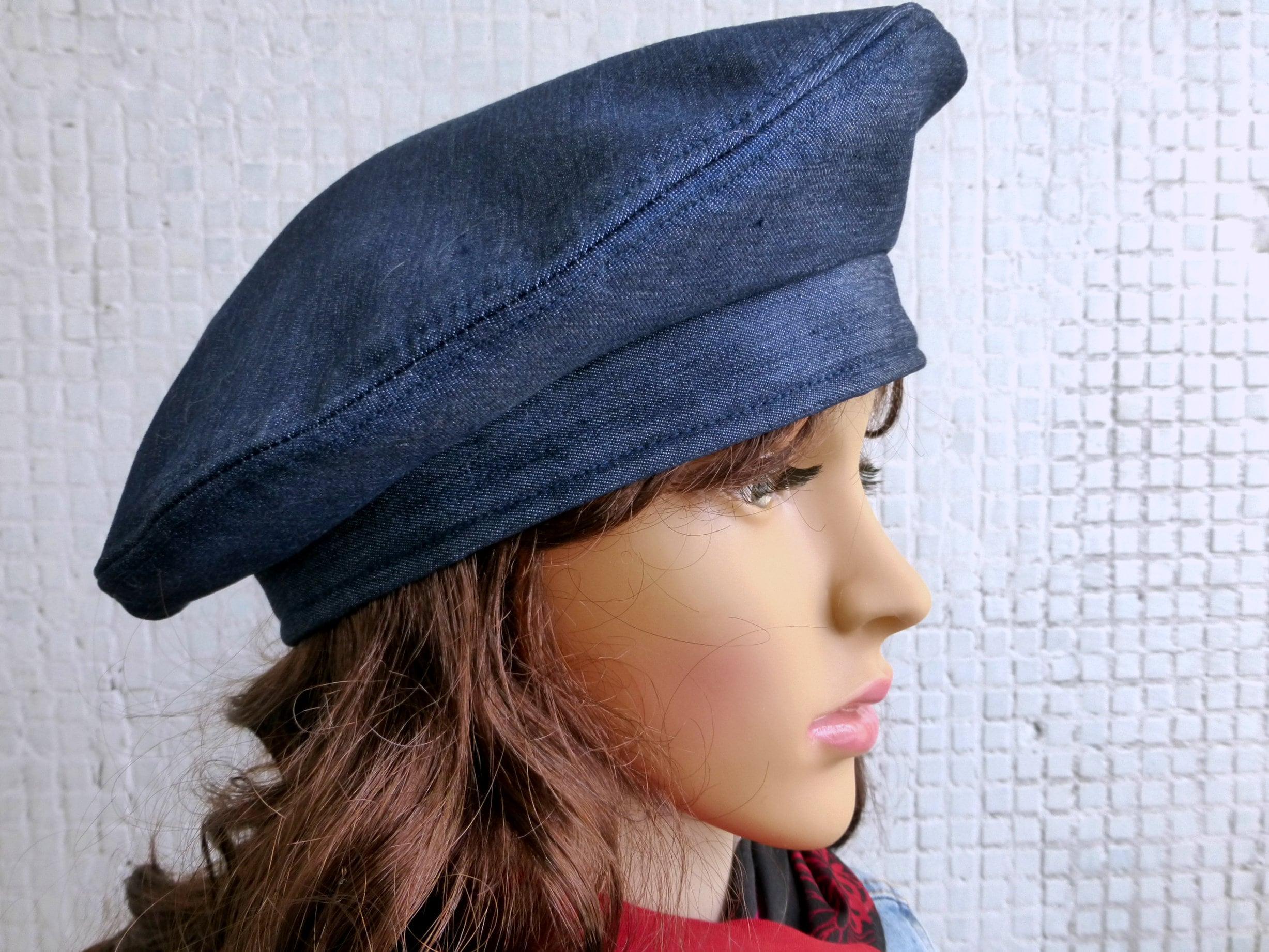 06c5ea1cbb629 Winter Beret Hat Women Denim Beret Hat Women Winter Hat Women