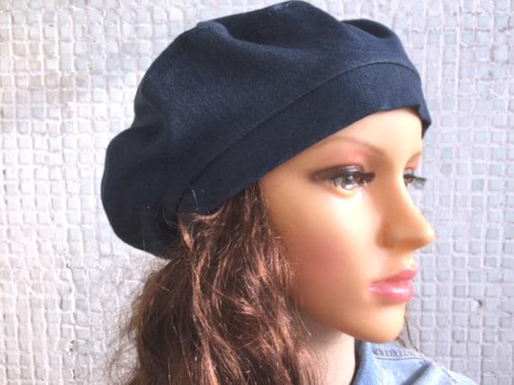 Beret Blue Women Denim hat Denim beret French beret Beret hat  d1ebaadec17
