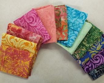 Fat Quarter Bundle/ Batik Fabric/No Duplicates/Free Shipping/12 pieces