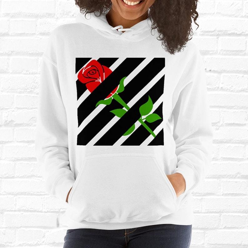 8f1c4acc94 Rose Hoodie Hypebeast Clothing Streetwear Hooded Sweatshirt   Etsy