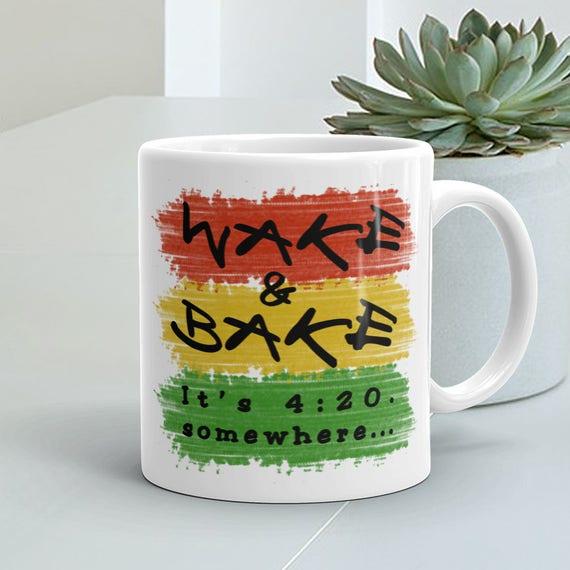Weed /& Pizza Ceramic Coffee Tea Mug Cup