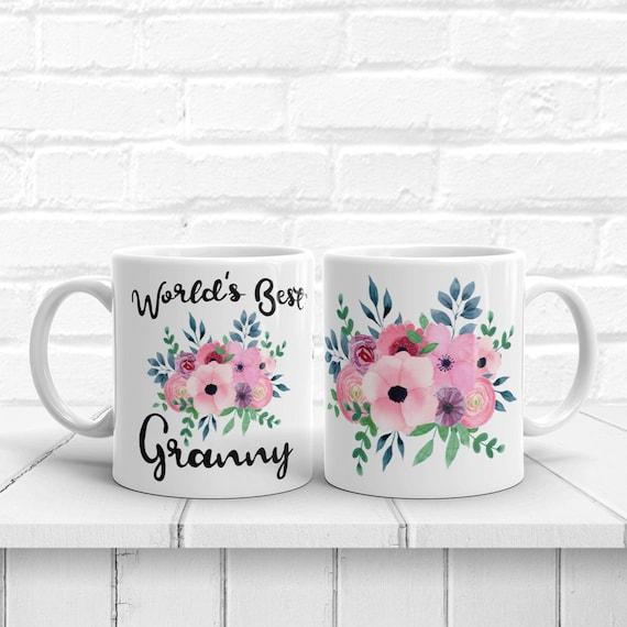 Gifts for Grandma Best Grandma Ever Cute Coffee Mug Granny Tea Cup PurpleHeart