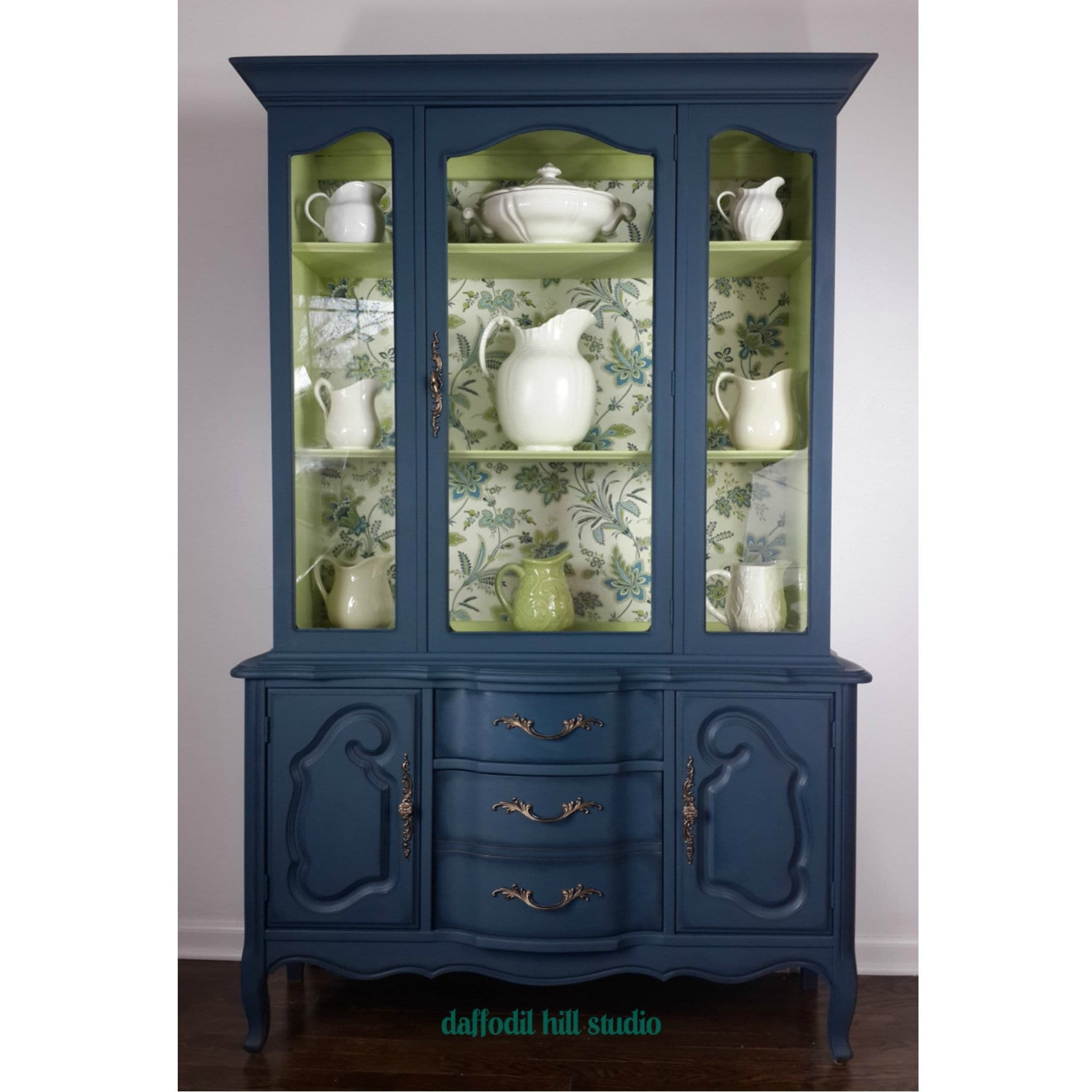 SOLD Vintage Stanley French Provincial China Cabinet