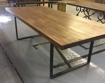 Reclaimed Bowling Alley Dining Room Table