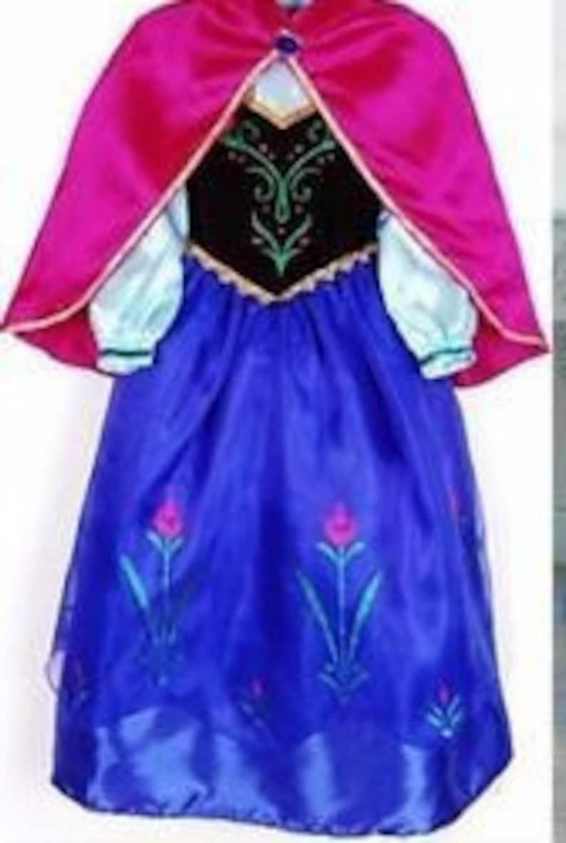 Princess elsa snow Queen dress costume blue girl dress The the snow Queen