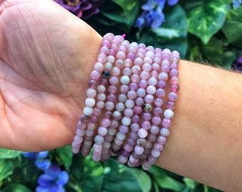 Lepidolite Bead Bracelet - Restful - Peace - Tranquility Healing Crystals, Gemstones, Chakra Stones-No.162