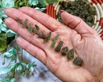 """0.1g to 1.1g Moldavite from Czech Republic - """"The Stone of Transformation"""" - 100% Genuine and Authentic"""