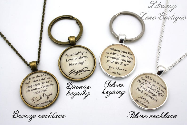 Keychain. Lewis Quote Necklace or Keyring Chronicles of Narnia S /'Why You Were Brought To Narnia/' C