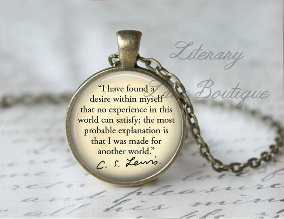 C S Lewis I Was Made For Another World Quote Etsy