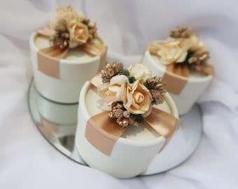 Sugared almond wedding flower box / candy box / Favor Box