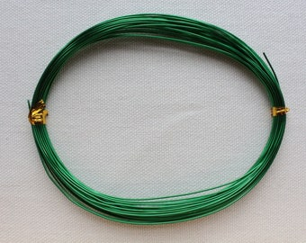 10 meters of d ' Aluminium wire 0.8 mm dark green