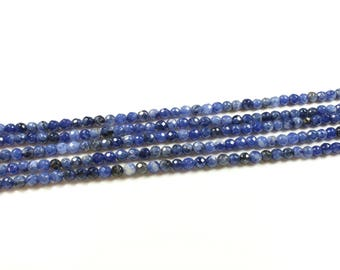 20 faceted pearls of natural sodalite - 4mm LBP00680