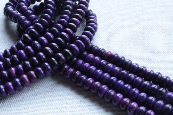30 Perles Abacus en Turquoise Synthétique Violet 8 x 5mm