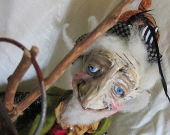 Gaelin a Magical Woodland Elf One of a Kind  Original Art Doll