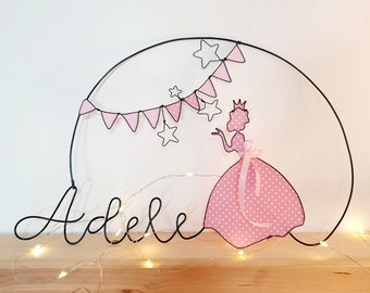 Wire name, Wall decoration, decoration Children's room, Birth gift