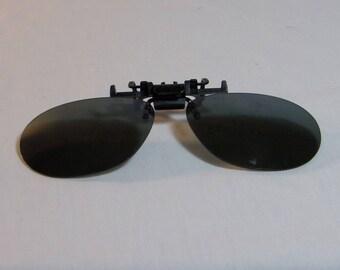 c19823e7a7 1970s Flip Up Sunglasses Clip On Solar Shield Brand