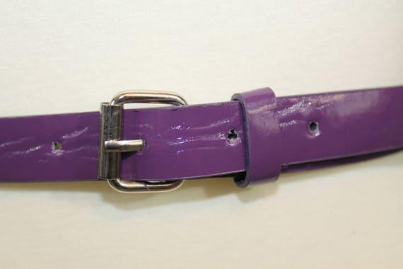 Ceinture Vintage violette rivets en cuir look goujons   Etsy 022a0637554