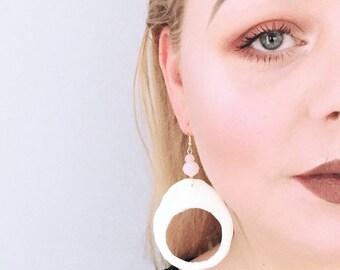 Glow-in-the-dark Hoop Earrings