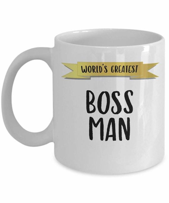 Worlds Best Boss Man Office Mug Gift Etsy