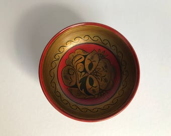 Vintage hand painted Russian bowl