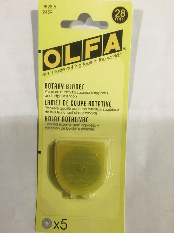 OLFA 28mm ROTARY BLADES 5 Blades with Case RB28-5//9459