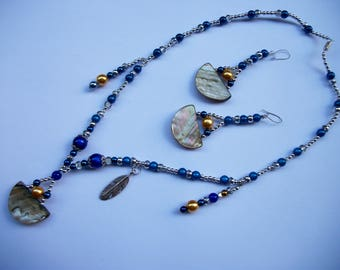 Bahamas parure: Necklace and earrings