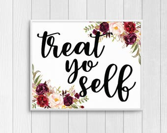 Treat Yo Self 8x10 Print - Parks and Recreation Print - Parks and Rec Print, Parks and Rec Poster, Parks and Rec Art, Parks and Rec Gift