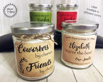 Coworker Gift Soy Candle Thank You For Friend Birthday Personalized