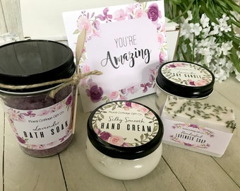 Youre Amazing Gift Congratulations Thank You Spa Set Encouragement For Friend Grateful Coworker
