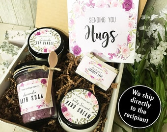 Sending Hugs Gift Set//Thinking of you//Spa Gift Set//Encouragement Gift//Sympathy Gift//Bereavement Gift//Sympathy Gift Box//Cheer Up Gift