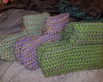 Handmade crocheted slippers