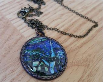 "Van Gogh ""The Starry Night"" Church Necklace"