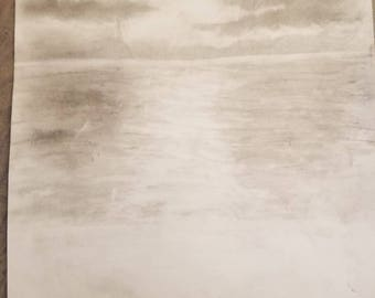Dusk over the ocean