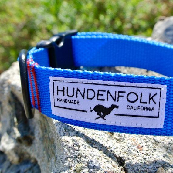 Collier de chien bleu collier de chien / chiot collier / fait à la main pour chien / collier de chien en Nylon / accessoires pour chiens / chien harnais / chien en laisse / collier pour animaux de compagnie