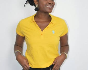Polo femme jaune ORiiSHA