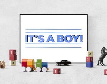 Oh Baby  //  It's a Girl Boy Baby Gender Reveal Birth Announcement DIY Customizable Colorful Rattles Add Your Own Photo Party Printables