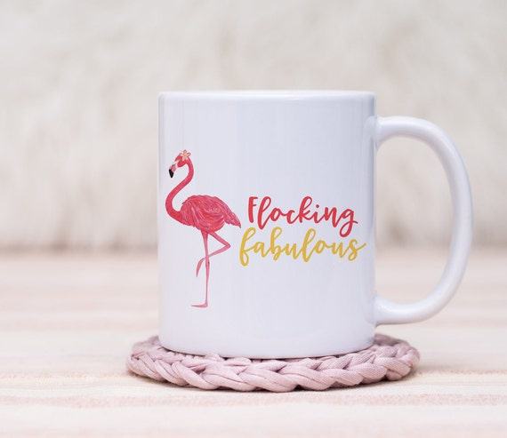 une tasse de caf flamant rose cadeau pour elle etsy. Black Bedroom Furniture Sets. Home Design Ideas