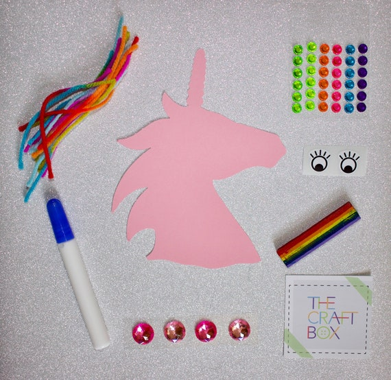 The Unicorn Craft Box Kids Craft Kits Arts And Crafts For Etsy