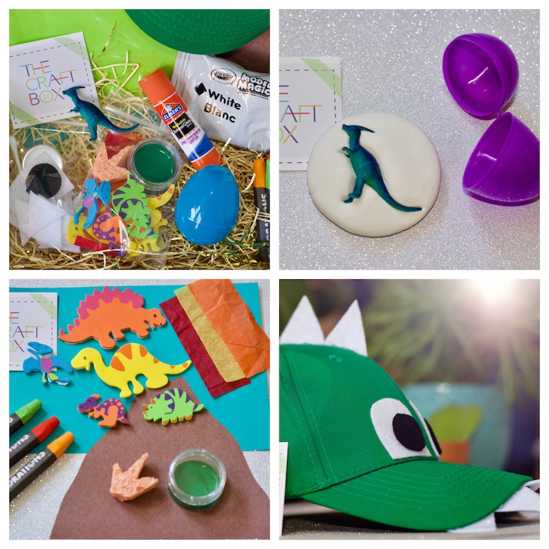 The Dinosaur Craft Box Kids Kits Birthday Party