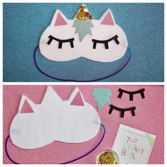 The Unicorn Sleep Mask Craft Arts And Crafts For Kids Etsy