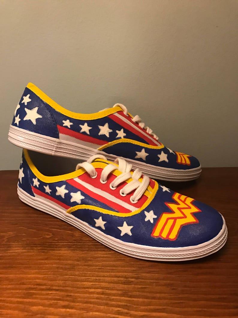 e632af0b736e9 Wonder Woman Canvas Shoes