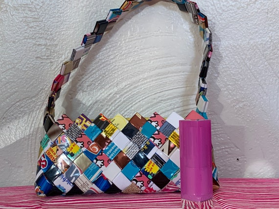 Candy wrapper vintage clutch