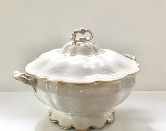 Antique Iris Soup Tureen with lid