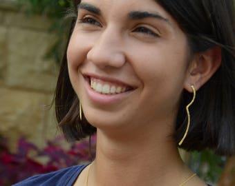 women's earrings, gold earrings, long earrings, minimalist earrings, modern earrings